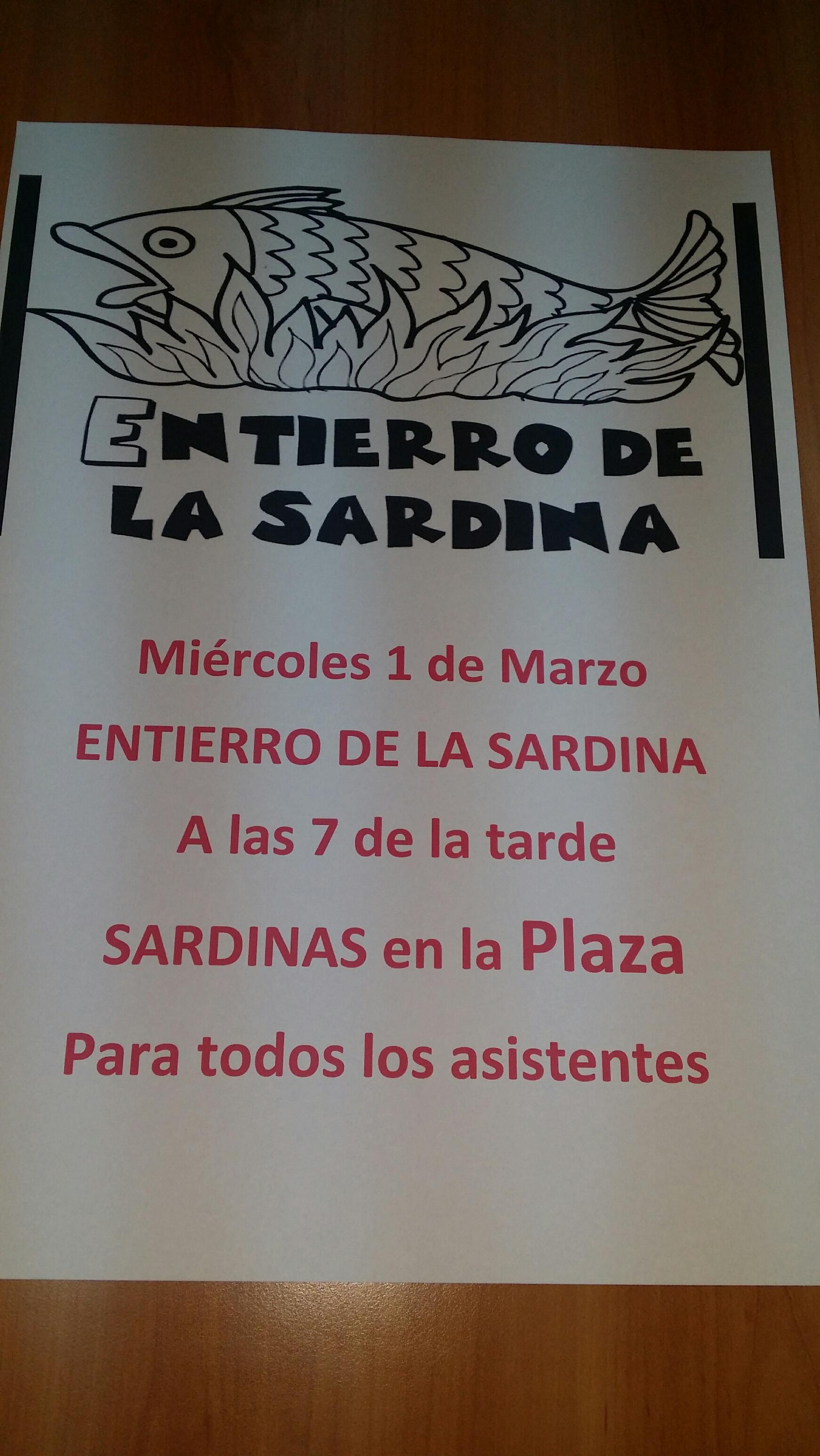 cartel corregido entierro sardinas